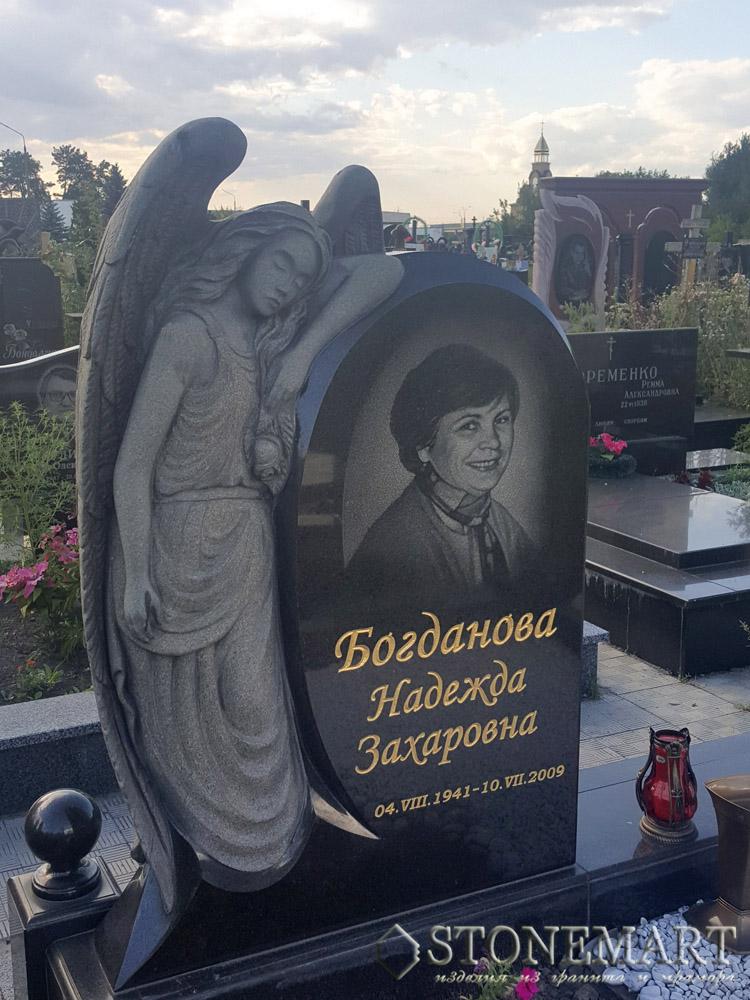 Памятник с ангелом Зорге Эконом памятник Башня с профильной резкой Салават