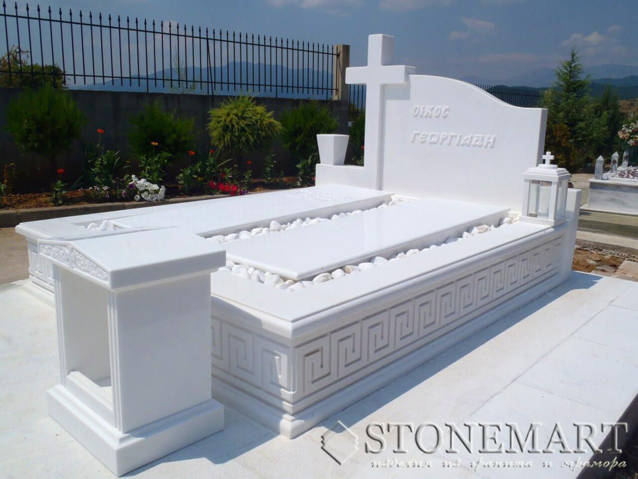 Памятник из белого мрамора №34